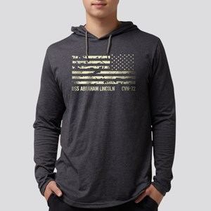 USS Abraham Lincoln Mens Hooded Shirt