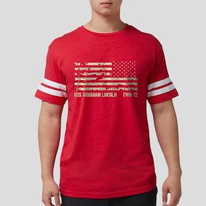 USS Abraham Lincoln Mens Football Shirt