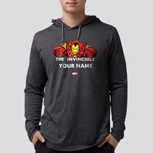 The Invincible Iron Man Personal Mens Hooded Shirt
