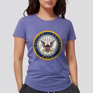 Navy  Womens Tri-blend T-Shirt
