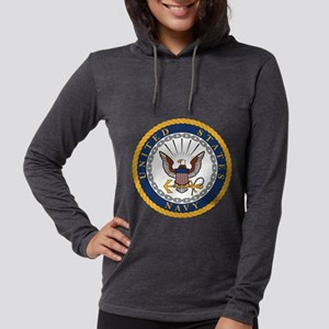 Navy  Womens Hooded Shirt