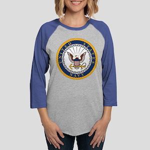 Navy  Womens Baseball Tee