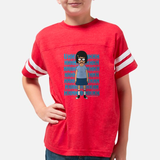 Bob's Burgers Tina Uhh Dark Youth Football Shirt