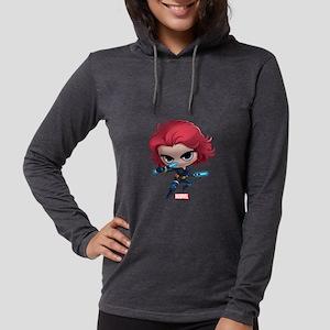 Chibi Black Widow Womens Hooded Shirt