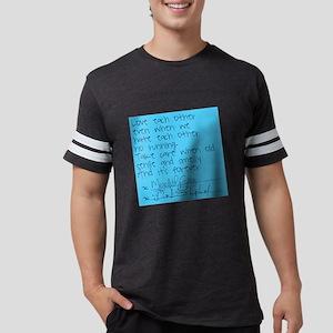 Greys Anatomy Sticky Note Mens Football Shirt