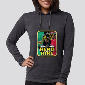 Classic Luke Cage Wall Break Womens Hooded Shirt