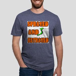 SPRAYED Mens Tri-blend T-Shirt