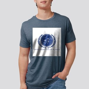 Star Trek; United Federatio Mens Tri-blend T-Shirt