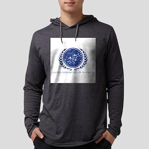 Star Trek; United Federation of  Mens Hooded Shirt