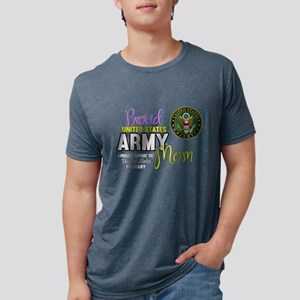 Proud Army Mom Seal Mens Tri-blend T-Shirt