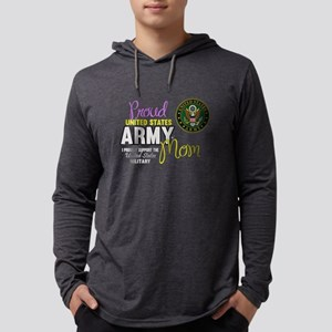 Proud Army Mom Seal Mens Hooded Shirt