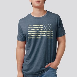 USS Carl Vinson Mens Tri-blend T-Shirt
