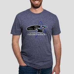 Star-Trek-To-Boldy-Go-blk Mens Tri-blend T-Shirt