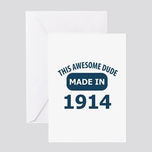 This awesome dude made in 1914 Greeting Card