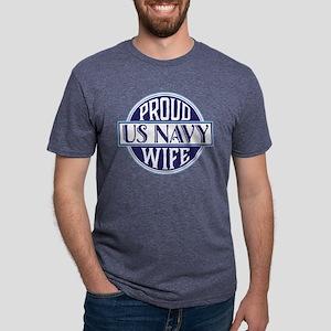 Proud US Navy Wife Mens Tri-blend T-Shirt