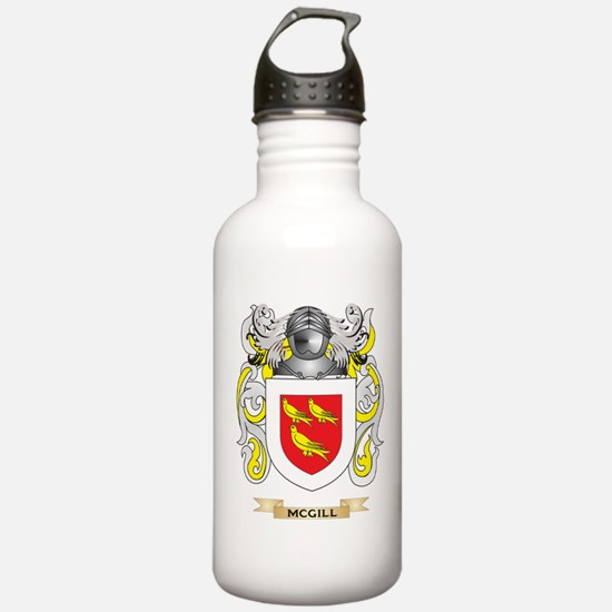 McGill Coat of Arms - Family Crest Water Bottle