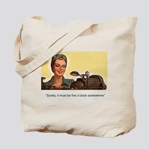 Happy Hour-Quiting Time Tote Bag