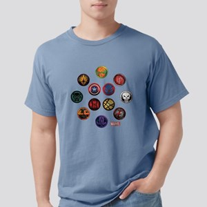Marvel Grunge Icons Mens Comfort Colors Shirt