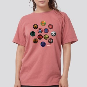 Marvel Grunge Icons Womens Comfort Colors Shirt