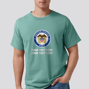 US Navy Emblem Customize Mens Comfort Colors Shirt