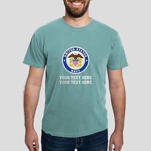 US Navy Emblem Customize Mens Comfort Colors Shirt