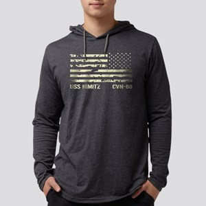 USS Nimitz Mens Hooded Shirt