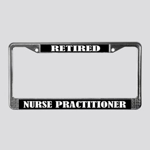 Retired Nurse Practitioner License Plate Frame