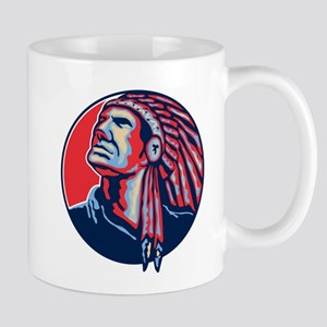 Native American Indian Chief Retro Mug