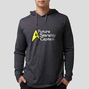 future_captain_dark Mens Hooded Shirt