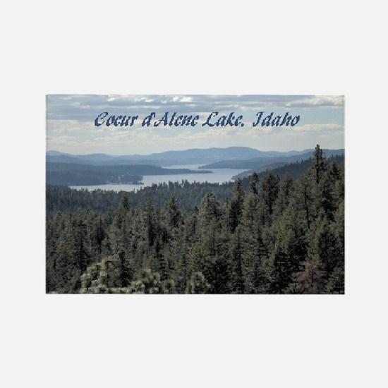 Coeur d'Alene Lake Rectangle Magnet