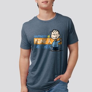 HappinessIsBrother Mens Tri-blend T-Shirt