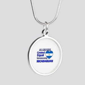 Nicaraguan wife designs Silver Round Necklace