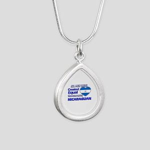 Nicaraguan wife designs Silver Teardrop Necklace
