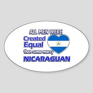Nicaraguan wife designs Sticker (Oval)
