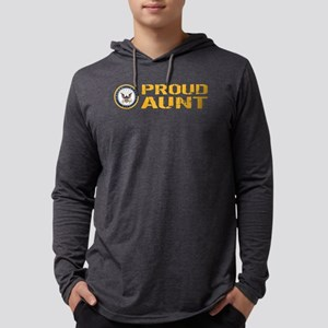 U.S. Navy: Proud Aunt Mens Hooded Shirt
