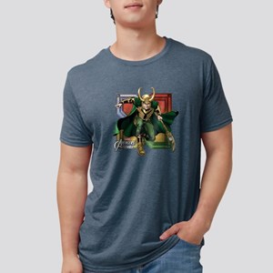 Avengers Assemble Loki Mens Tri-blend T-Shirt