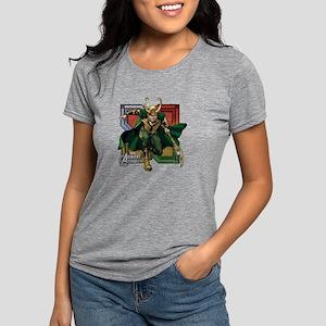 Avengers Assemble Loki Womens Tri-blend T-Shirt