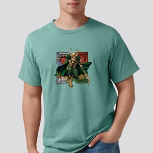 Avengers Assemble Loki Mens Comfort Colors Shirt