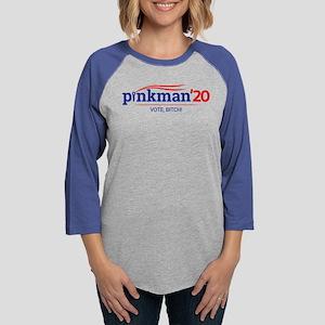 Pinkman Vote Bitch Womens Baseball Tee