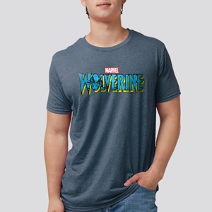 WolverineLogo light Mens Tri-blend T-Shirt