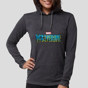 WolverineLogo light Womens Hooded Shirt