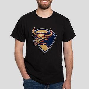 Angry Bull Head Crest Retro T-Shirt