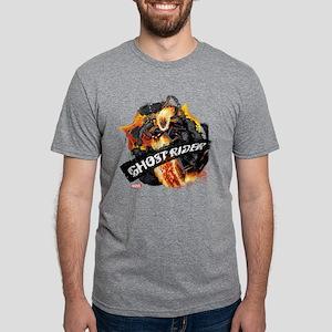 Ghost Rider Flames Mens Tri-blend T-Shirt