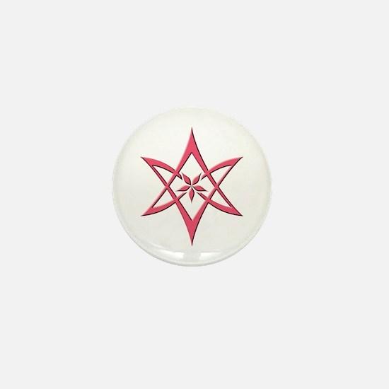 Rose Curved Unicursal Hexagram Mini Button