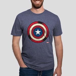 Captain America Comic Shiel Mens Tri-blend T-Shirt