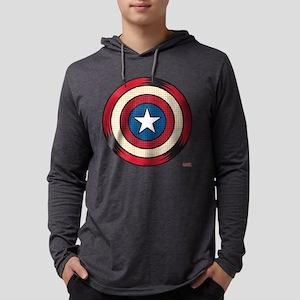 Captain America Comic Shield Mens Hooded Shirt