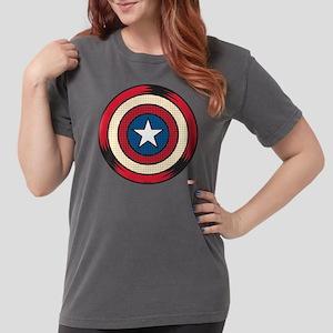 Captain America Comic  Womens Comfort Colors Shirt