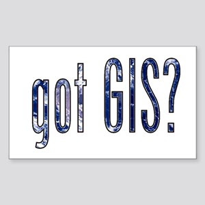 It's a Big World/Got GIS? Rectangle Sticker