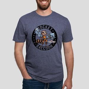 GOTG Comic Rocket Guns Ligh Mens Tri-blend T-Shirt