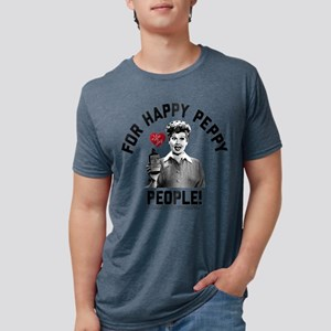 I Love Lucy Happy Peppy Peo Mens Tri-blend T-Shirt